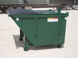 3yd Rear Load Stackable 2-Lid