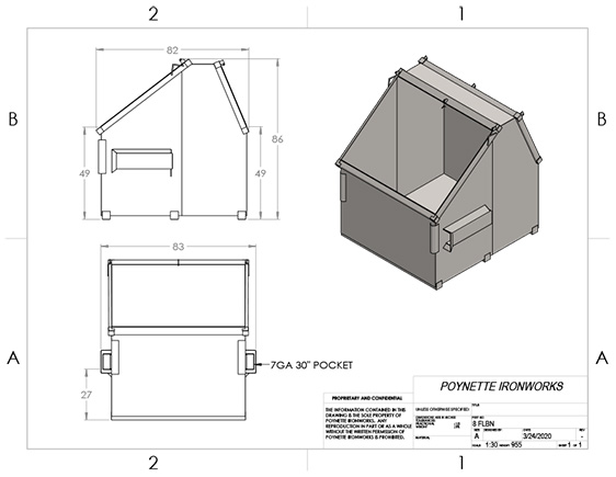 8yd Front Load Barn