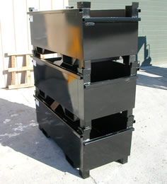 Black Stackable Scrap Bin