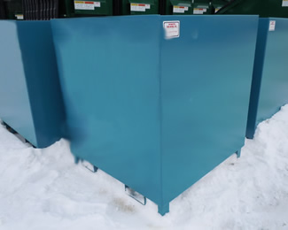 Blue Stackable Scrap Bin