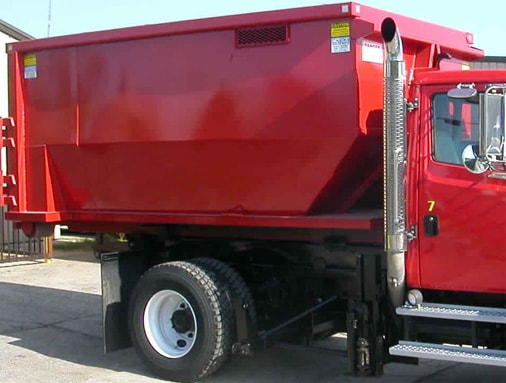 Red Color Container in a Truck